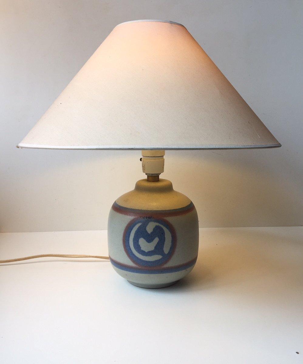 Dänische Tischlampe aus Keramik von Ole Bøgild für Le Klint, 1970er