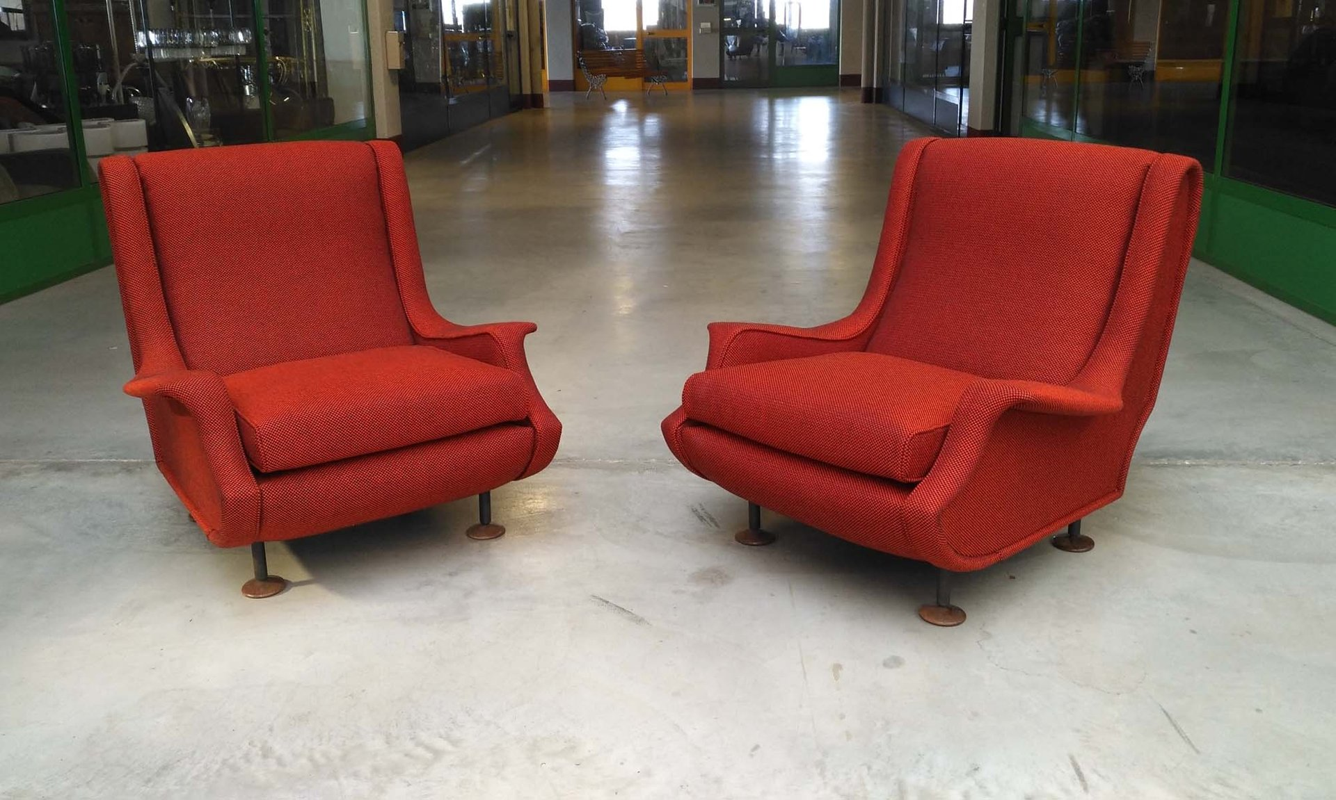 Italienische Vintage Sessel von Marco Zanuso für Arflex, 1960er, 2er S...