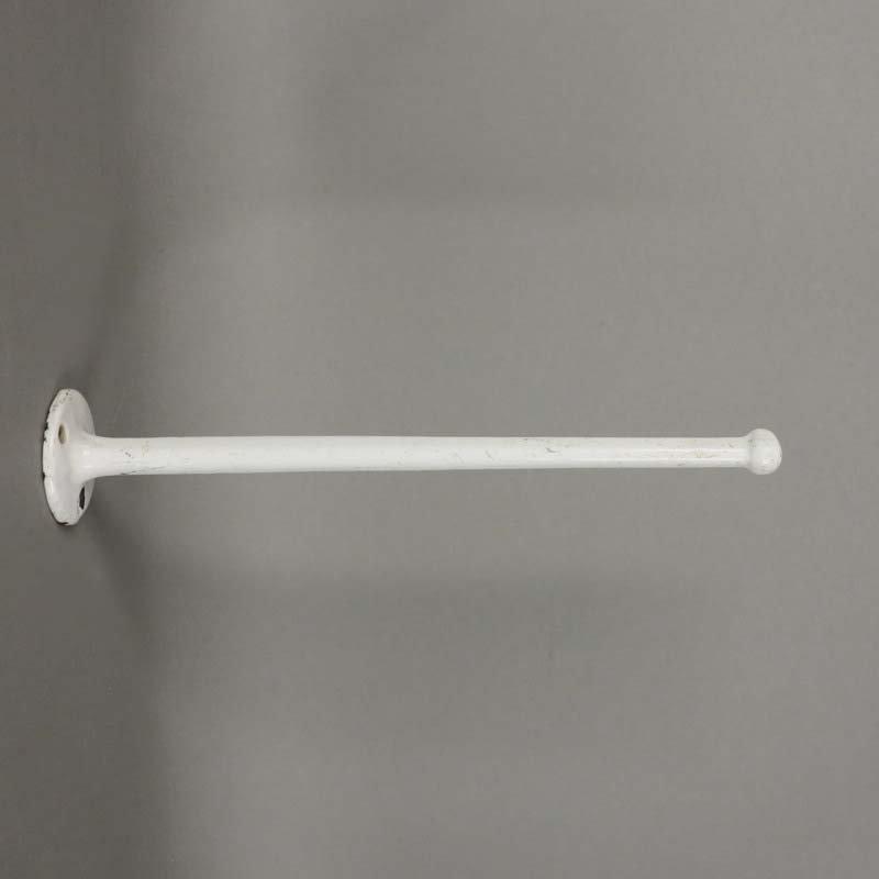 Emaillierter Art Deco Handtuchhalter, 1930er | Bad > Bad-Accessoires > Handtuchhalter | Weiß