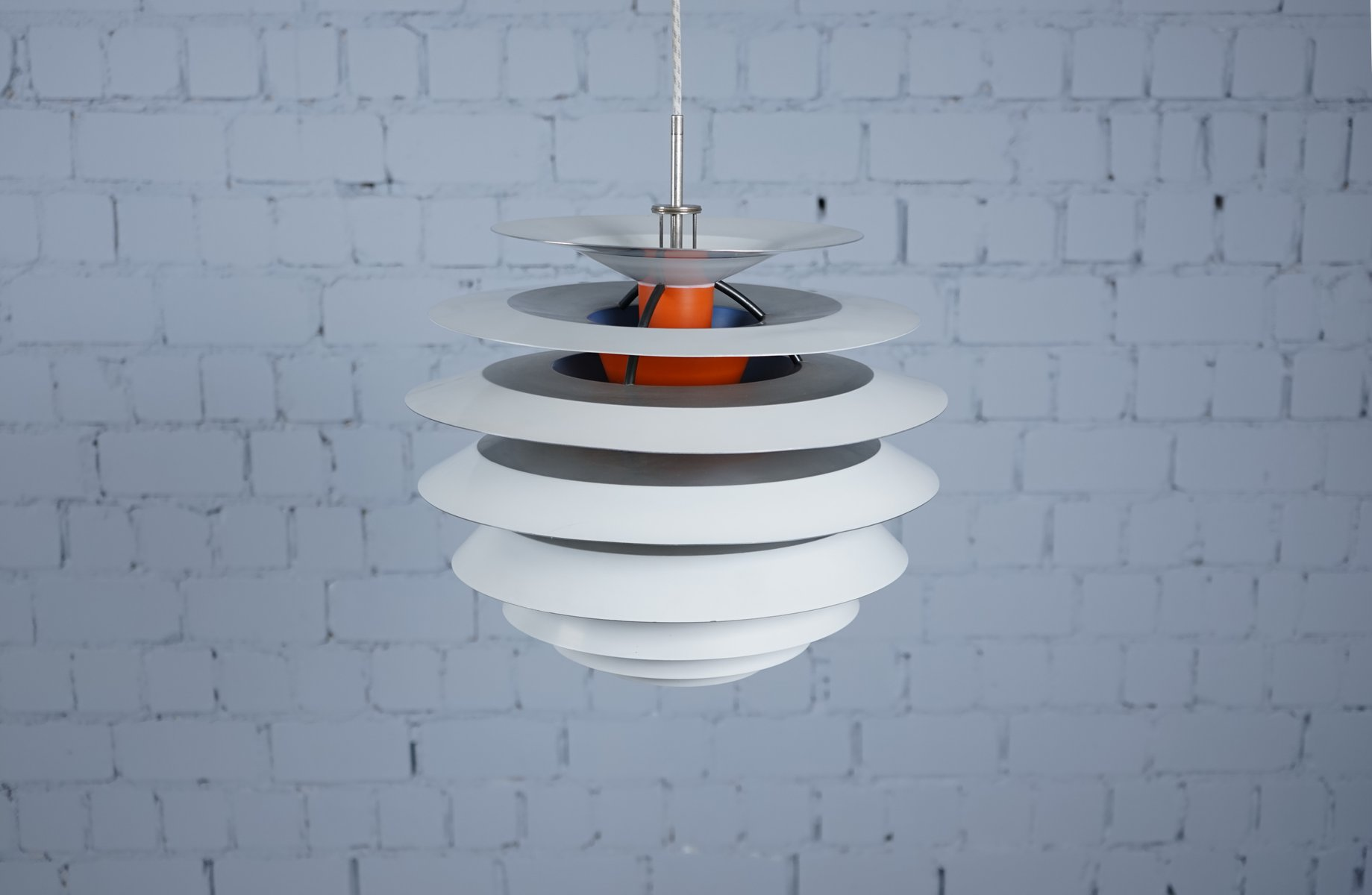 Mid-Century Danish Model PH Contrast Hanging Lamp By Poul