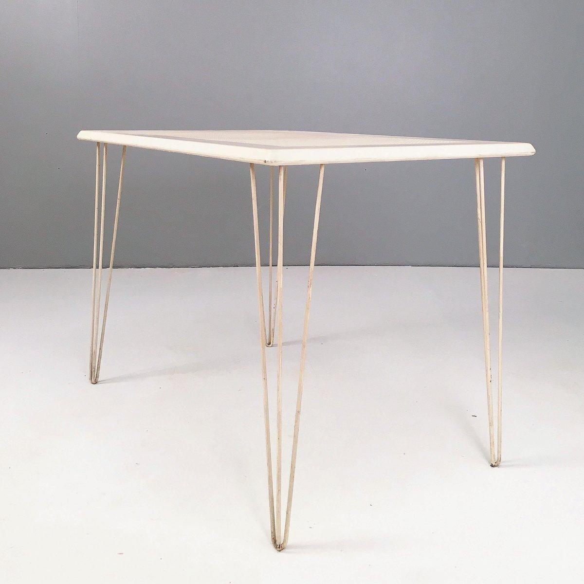 Tavoli Da Giardino In Metallo.Tavolo Da Giardino Modernista In Metallo Anni 50 In Vendita Su Pamono