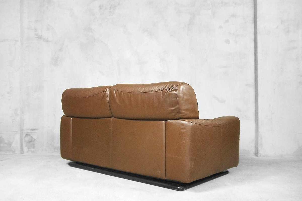 Italian Leather Sofa From Brunati 1970s For Sale At Pamono