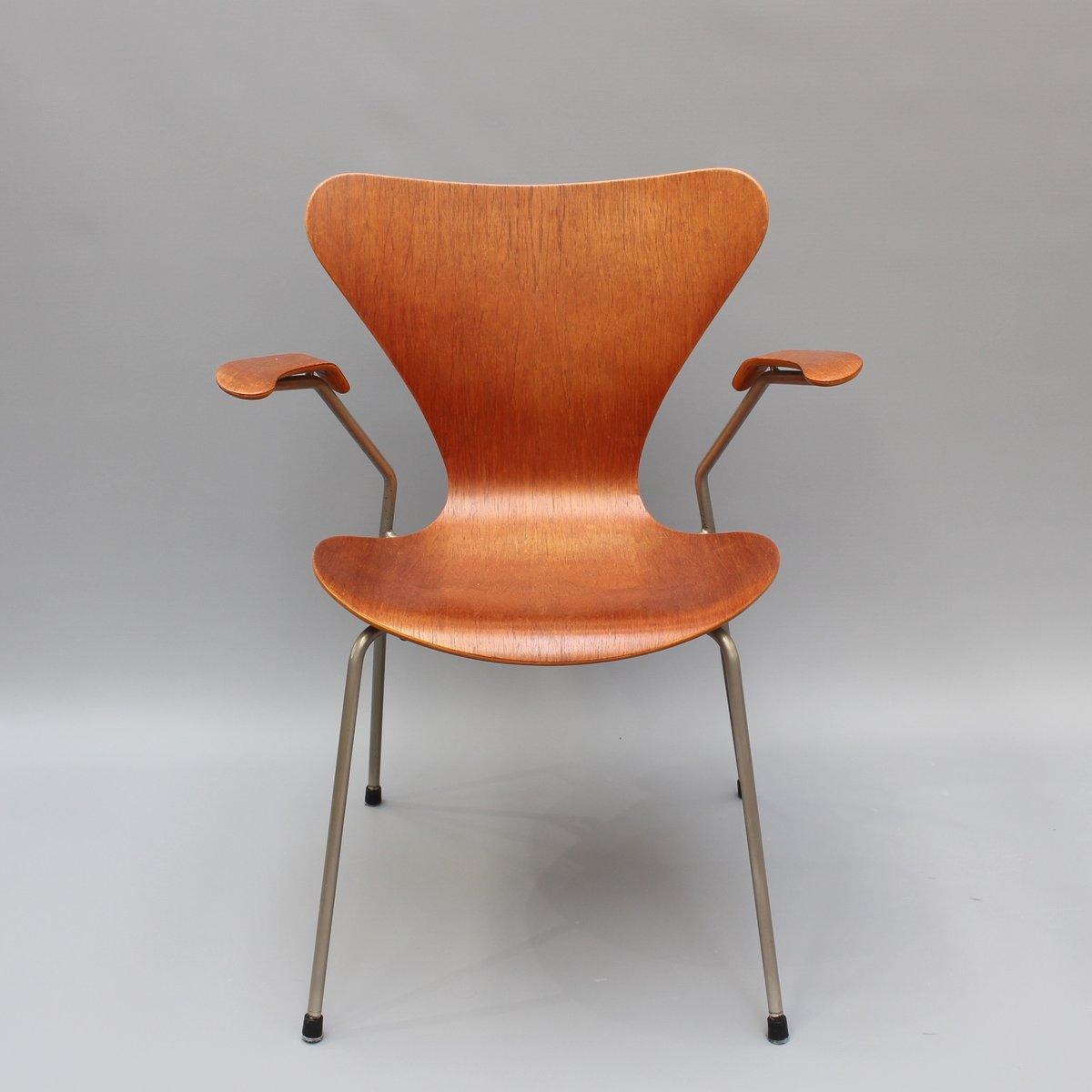 series 7 stuhl aus palisander von arne jacobsen f r fritz hansen 1960er bei pamono kaufen. Black Bedroom Furniture Sets. Home Design Ideas