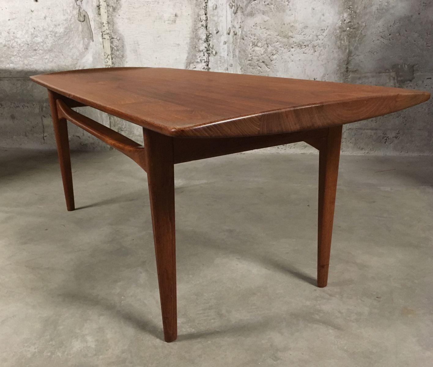 Danish Mid Century Teak Coffee Table 1 Small: Mid-Century Danish Teak Coffee Table By Tove & Edvard