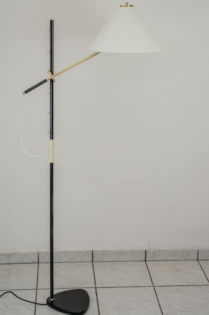 Vintage Pelikan Black Lacquered Floor Lamp By Jt Kalmar 1950s For Rewiring Antique Lamps Holiday Sale