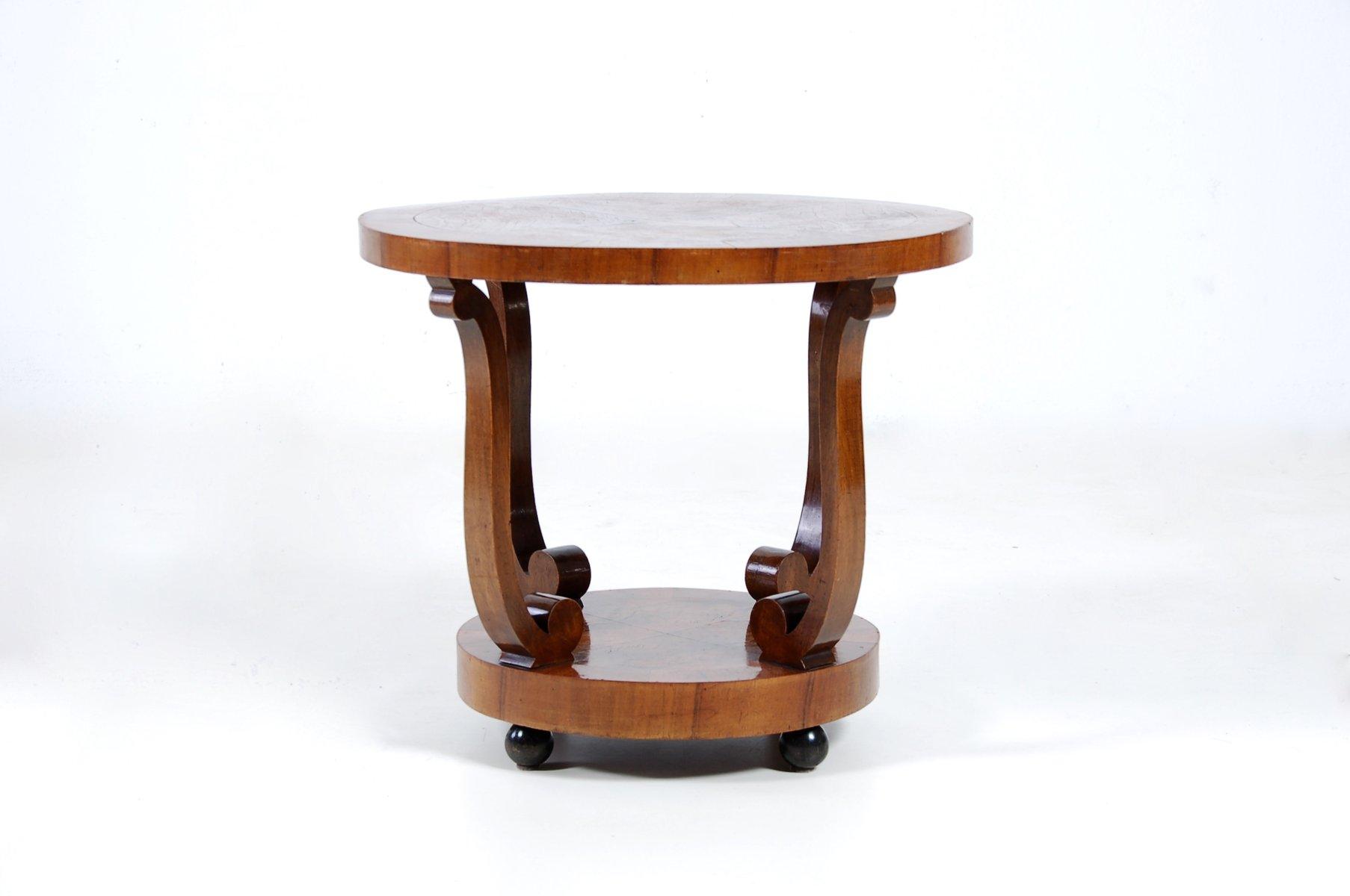 Art Deco Coffee Table In Walnut Burl 1930s