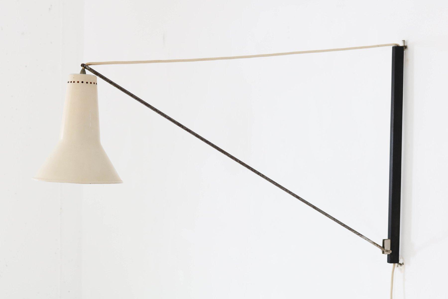 Niederländische Mid-Century Modern Bogen Wandlampe von Willem Hagoort,...