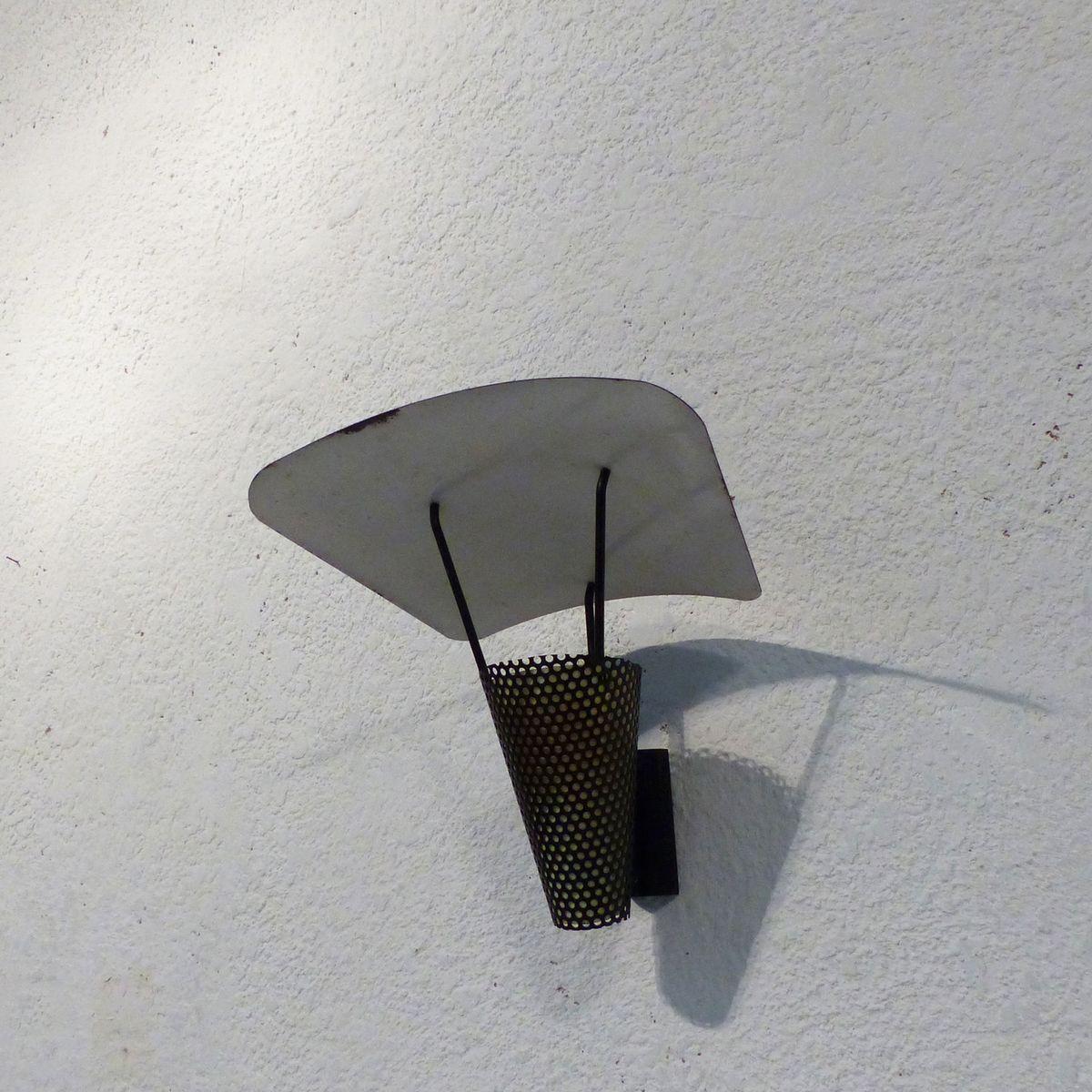 Französische Wandlampe von Jacques Biny, 1950er