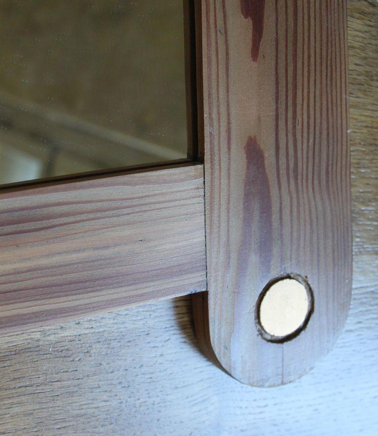 vintage spiegel mit holzrahmen goldenen accessoires bei pamono kaufen. Black Bedroom Furniture Sets. Home Design Ideas