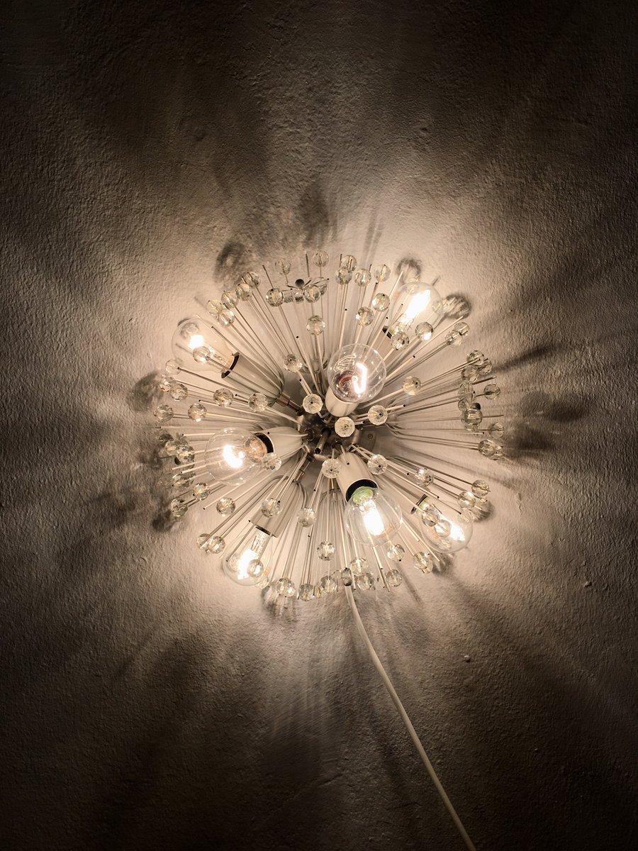 applique murale boule de neige par emil stejnar pour rupert nikoll 1950s en vente sur pamono. Black Bedroom Furniture Sets. Home Design Ideas