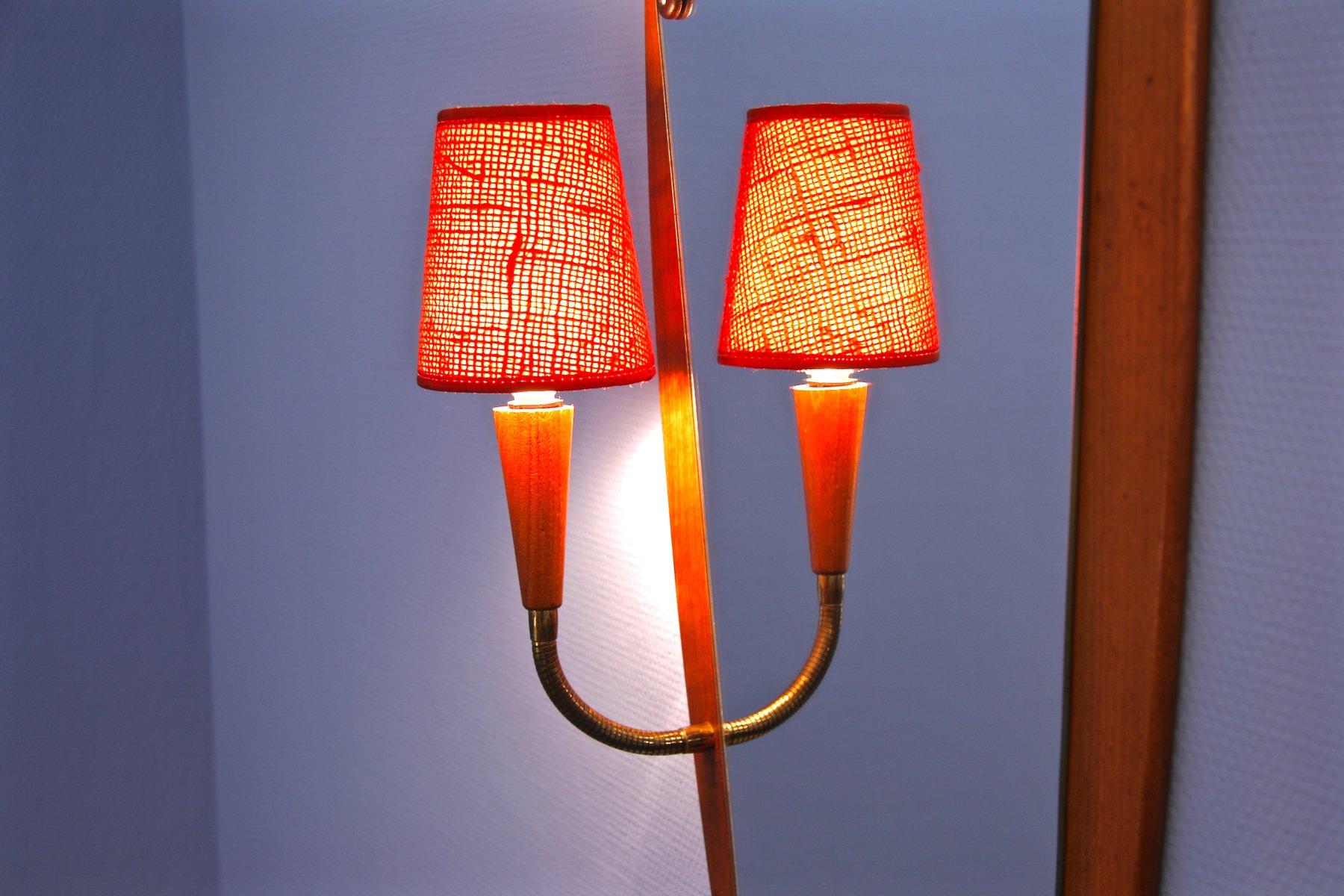 d nischer vintage teak spiegel mit lampe 1960er bei pamono kaufen. Black Bedroom Furniture Sets. Home Design Ideas