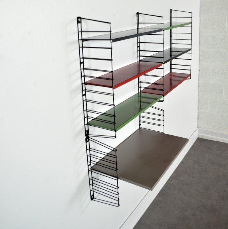 gro es niederl ndisches modulares regal von a d dekker f r tomado 1960er bei pamono kaufen. Black Bedroom Furniture Sets. Home Design Ideas