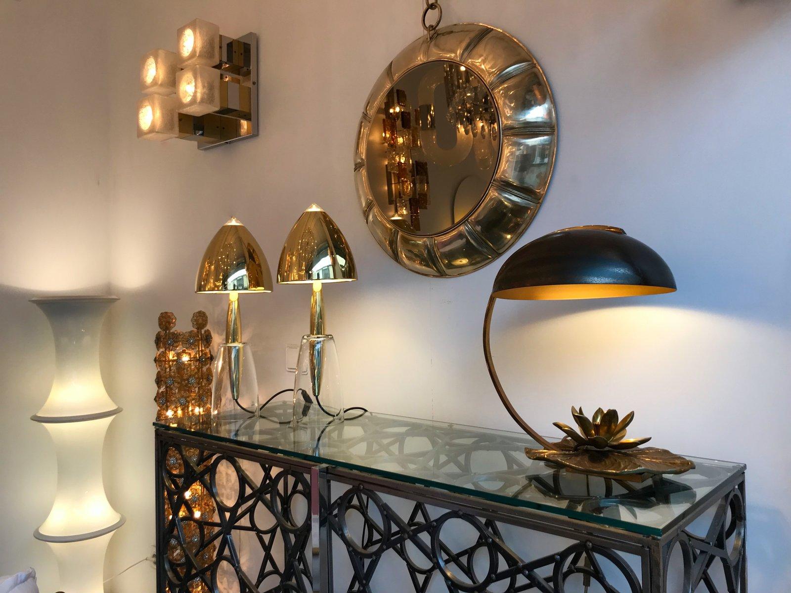 lampe de bureau n nuphar en bronze par chrystiane charles. Black Bedroom Furniture Sets. Home Design Ideas