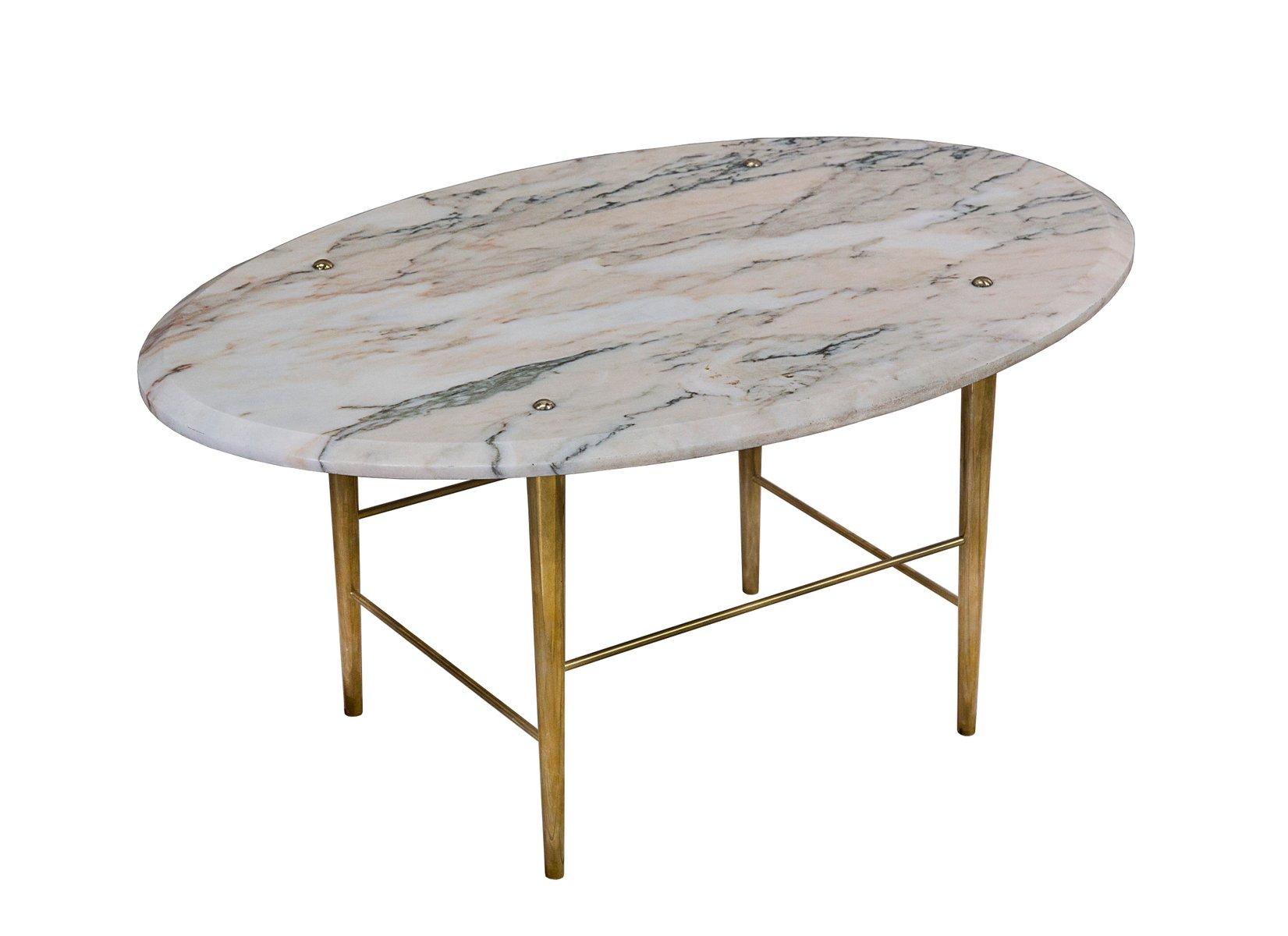 Stud couchtisch aus marmor messing von lind almond f r for Marmor couchtisch neu