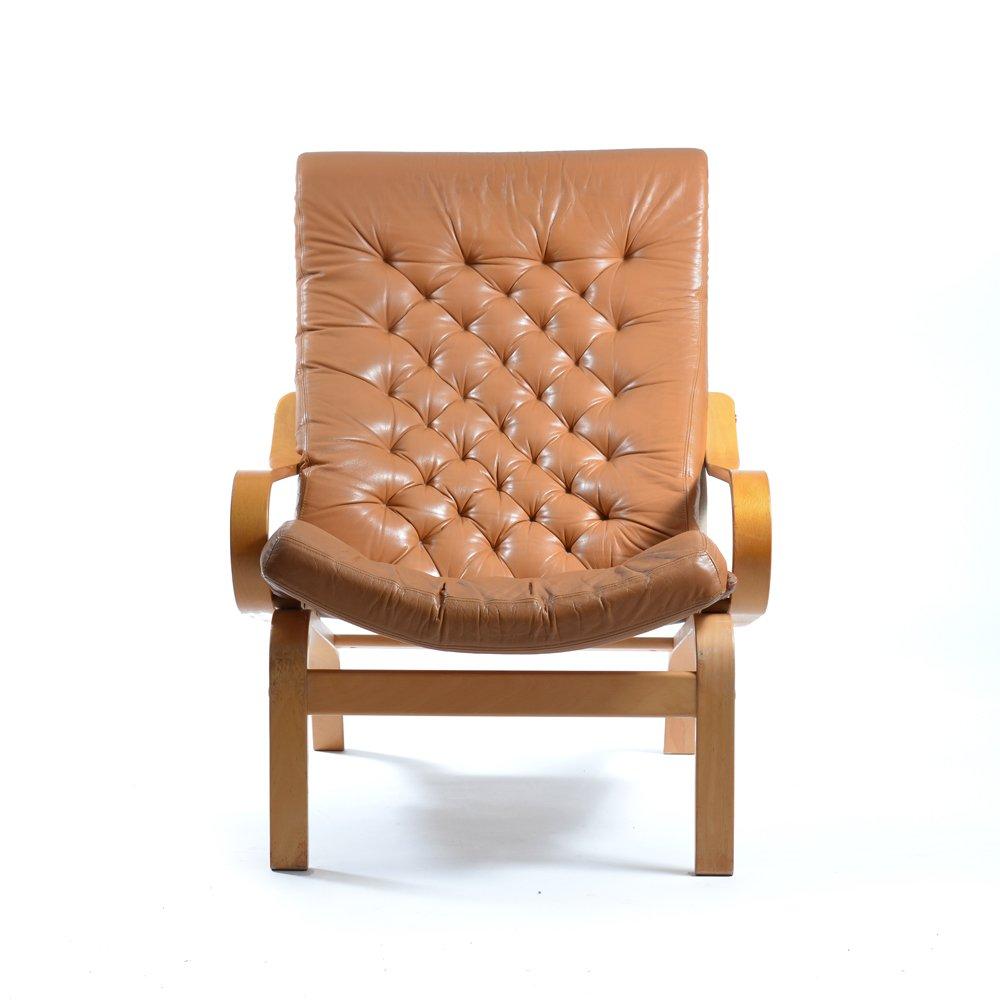 fauteuil bore en cuir et tissu par noboru nakamura pour ikea 1970s en vente sur pamono. Black Bedroom Furniture Sets. Home Design Ideas