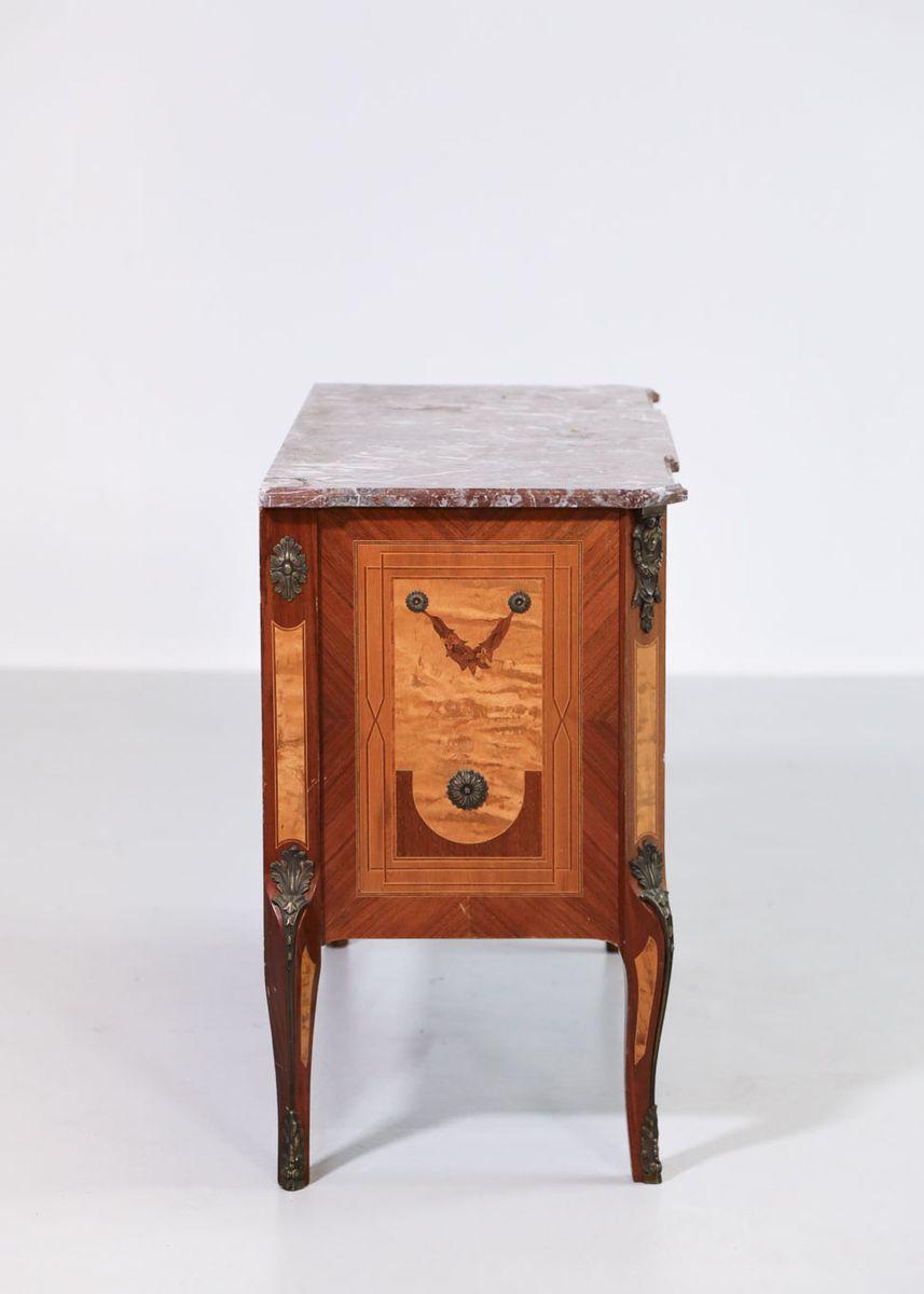 antike kommode mit marmorplatte bei pamono kaufen. Black Bedroom Furniture Sets. Home Design Ideas