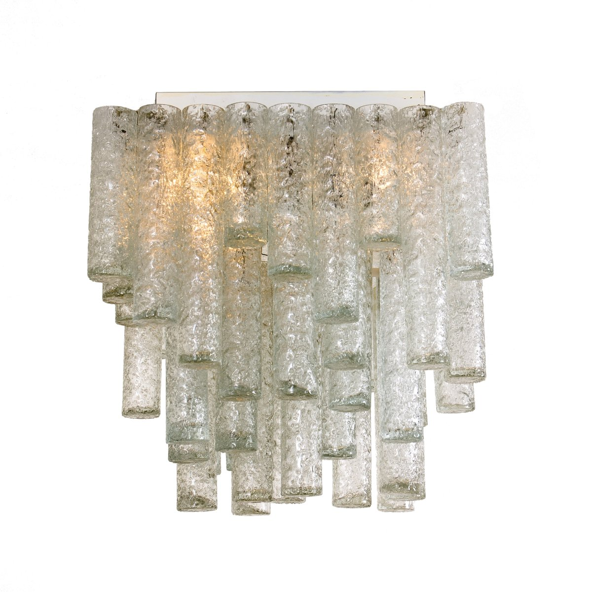 Viereckige Deckenlampen von Doria Leuchten, 1969, 2er Set