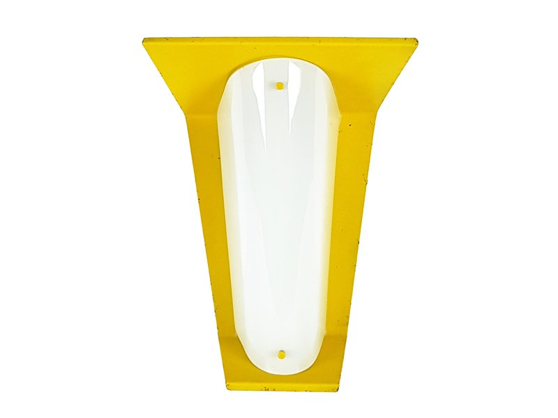 Italienische gelbe Metall & Opalglas Wandlampe, 1960er
