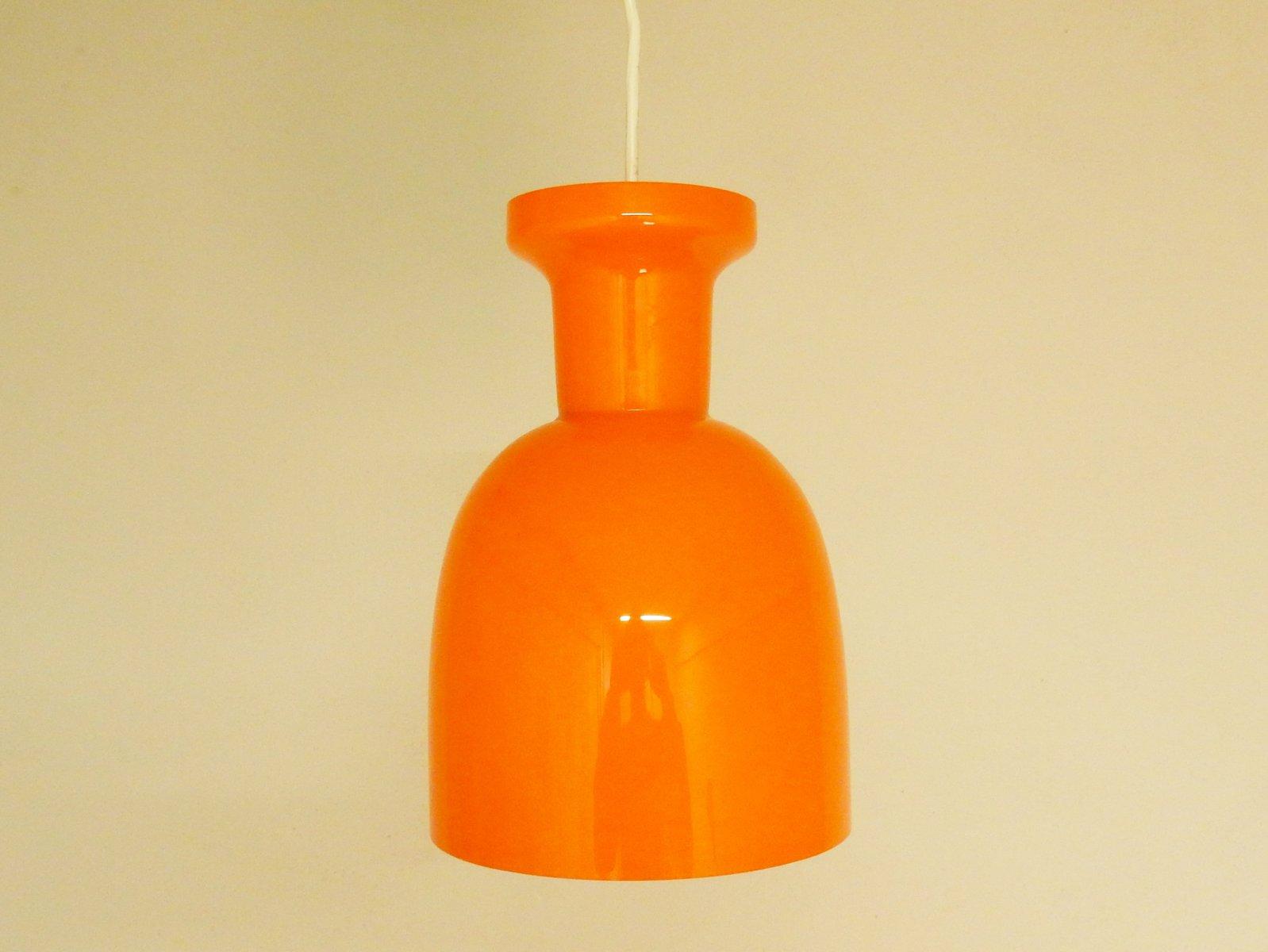 Niederländische Vintage Glas Lampen von RAAK, 1970er, 3er Set