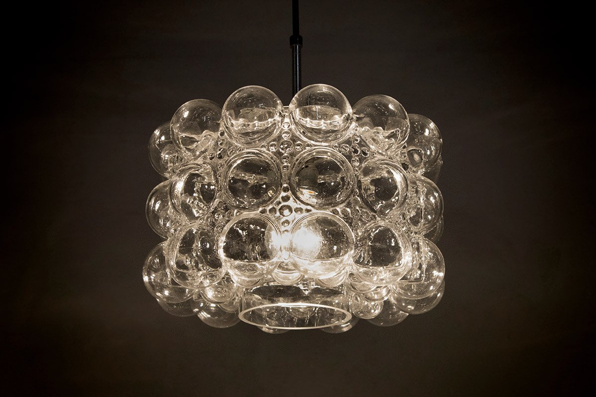 lampe suspension bulle en verre par helena tynell heinrich gantenbrink pour limburg 1960s. Black Bedroom Furniture Sets. Home Design Ideas