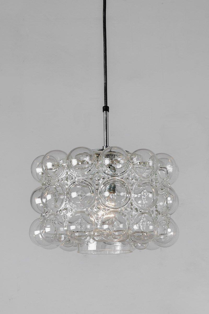 Bubbleglas Hängelampe von Helena Tynell & Heinrich Gantenbrink für Gla...