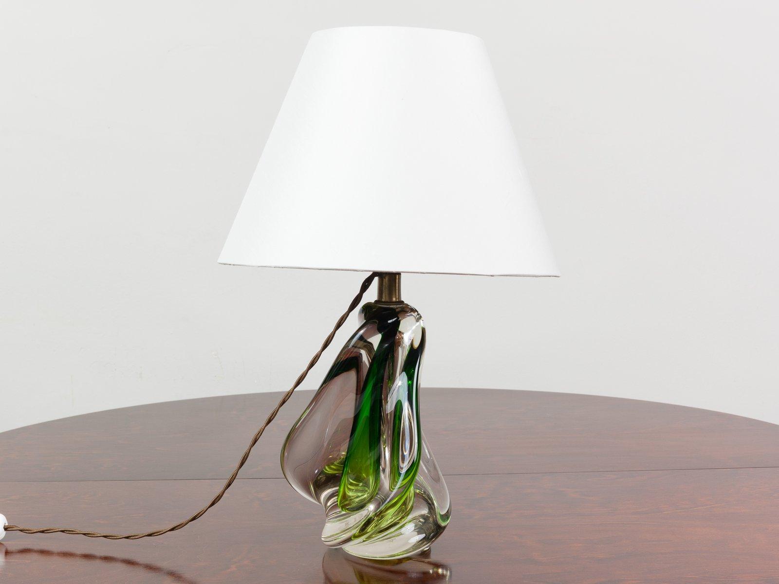 Lampade In Vetro Soffiato : Lampada in vetro soffiato verde di doyen belgio anni in