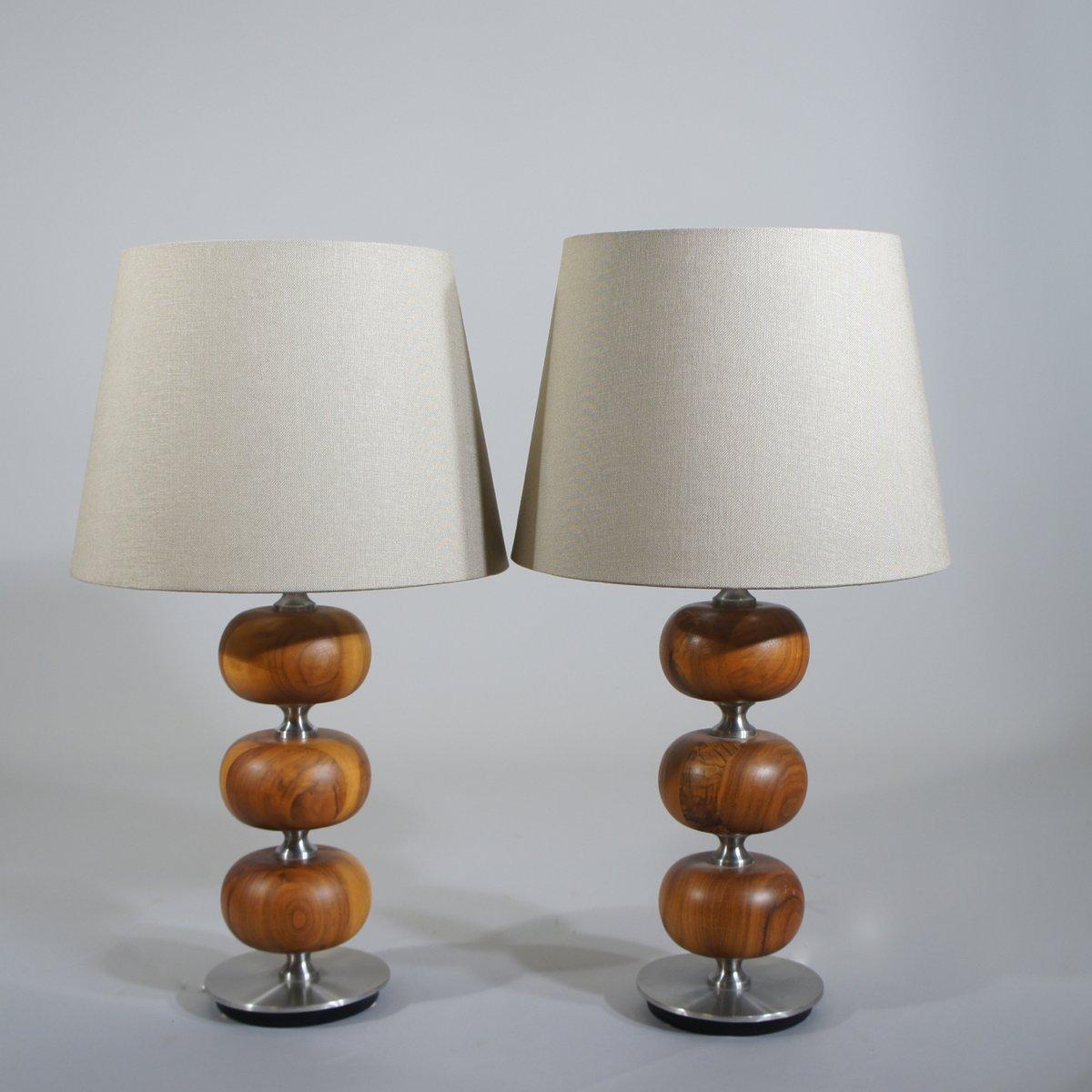 Tischlampen von Tranås Stilarmatur, 1970er, 2er Set