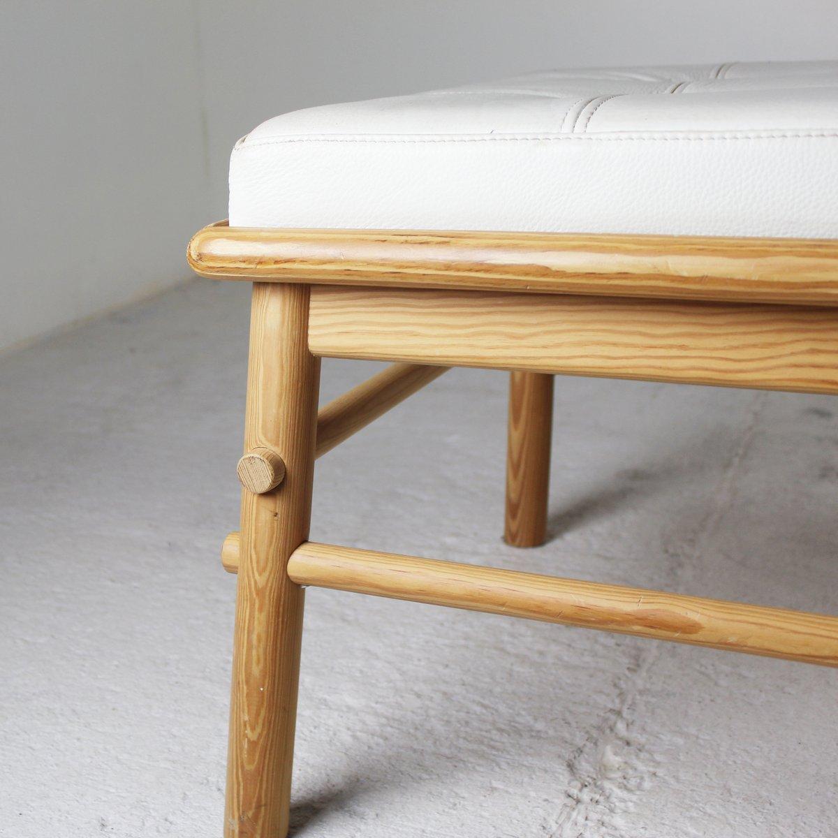 d nische bank aus leder und holz 1970er bei pamono kaufen. Black Bedroom Furniture Sets. Home Design Ideas