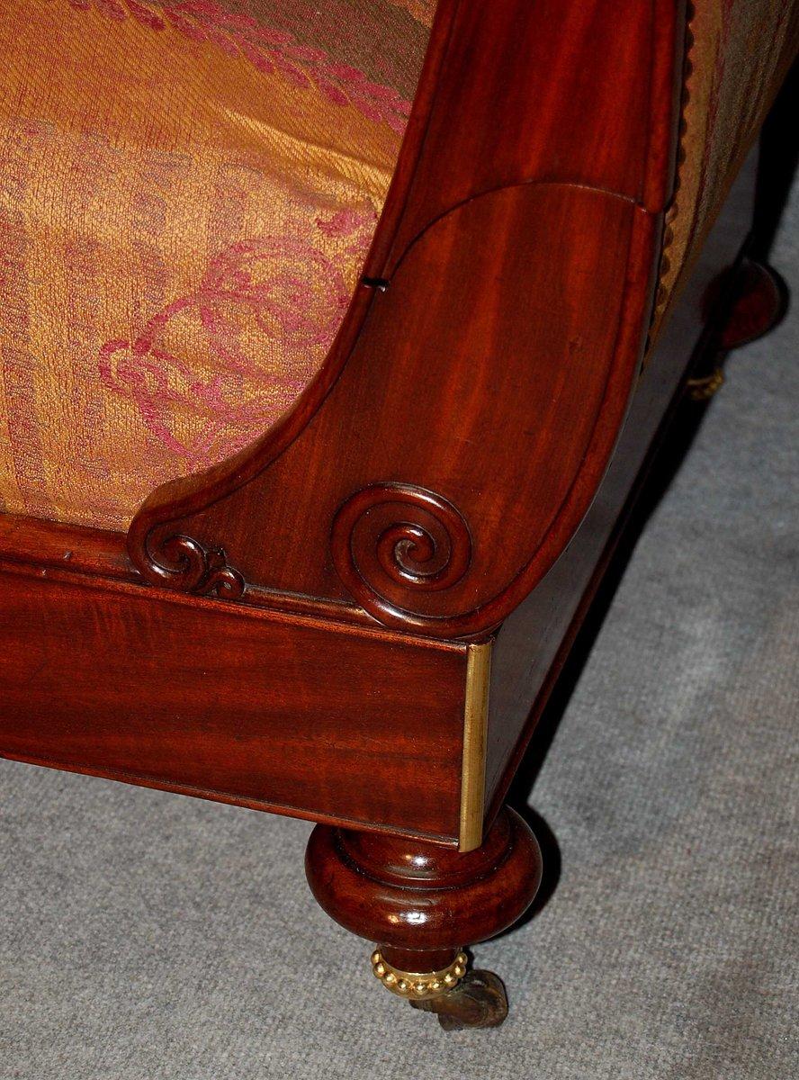 chaise longue antica in mogano di dubois paris in vendita su pamono. Black Bedroom Furniture Sets. Home Design Ideas