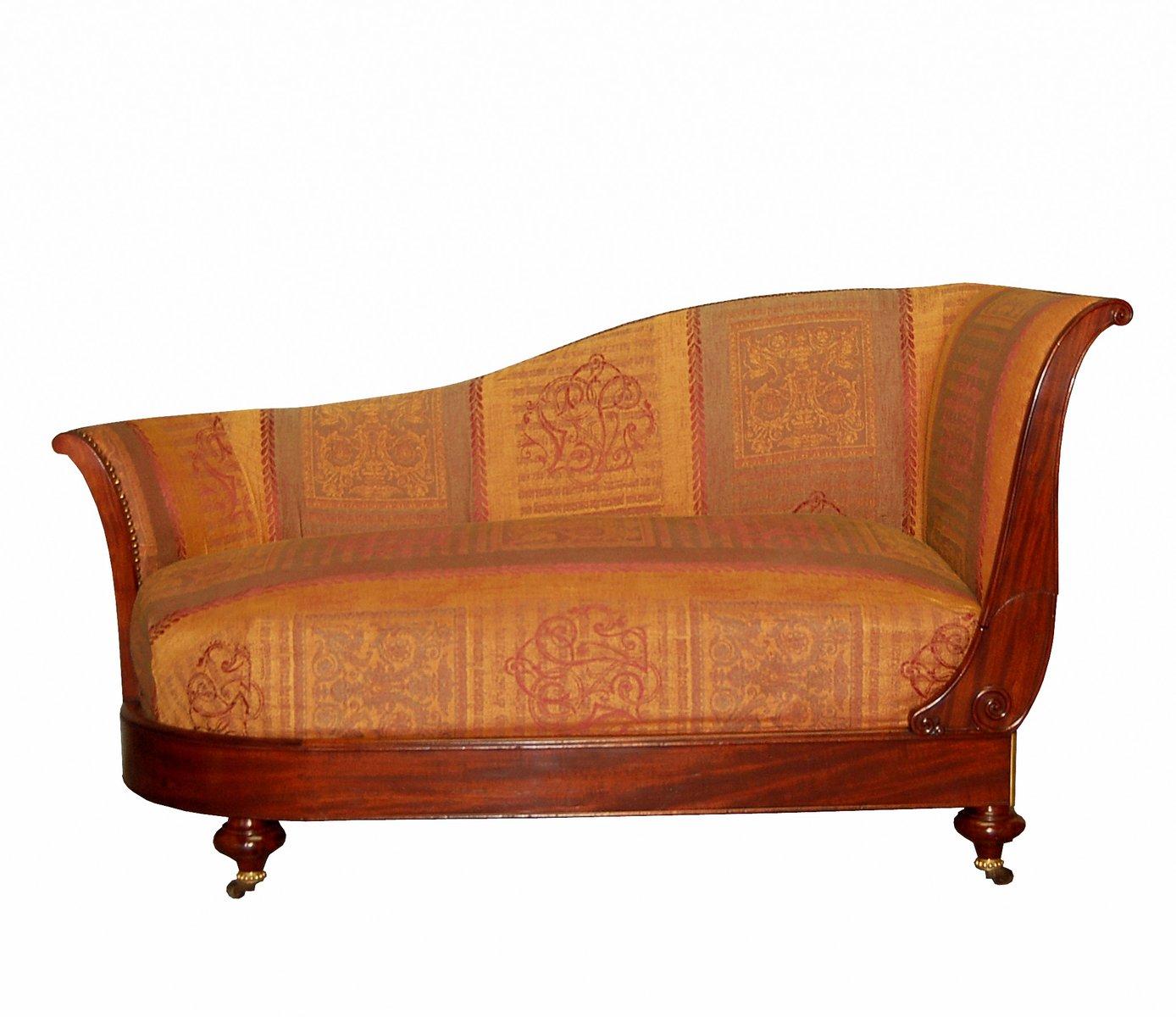 Antique mahogany chaise lounge from dubois à paris