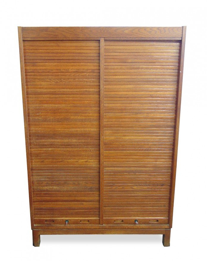 Teak Cabinet With Jalousie Doors 1960s For Sale At Pamono