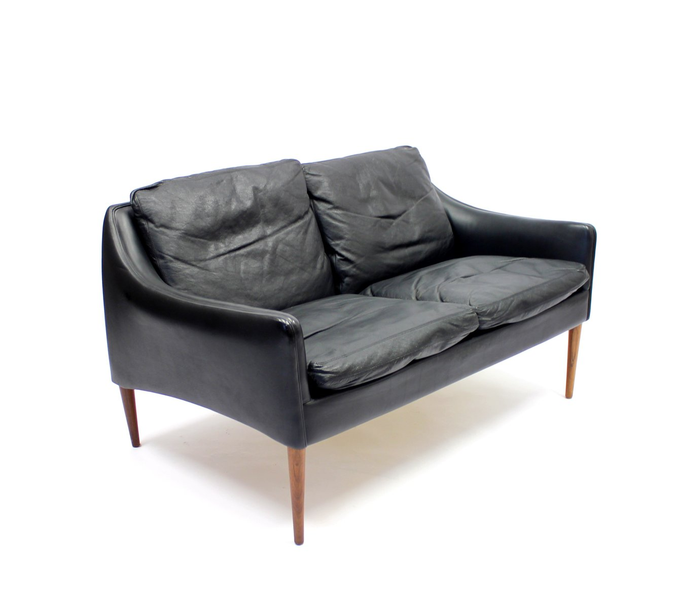 2 sitzer sofa aus leder palisander von hans olsen f r cs m belfabrik 1960er bei pamono kaufen. Black Bedroom Furniture Sets. Home Design Ideas