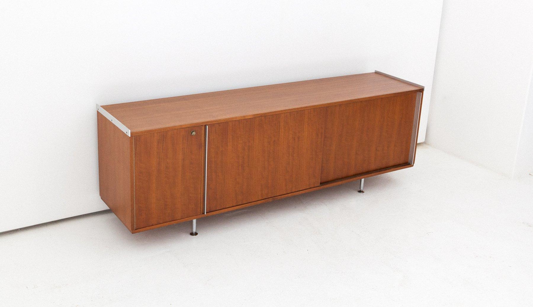 Mid-Century Walnuss Sideboard von Alberto Rosselli, 1950er