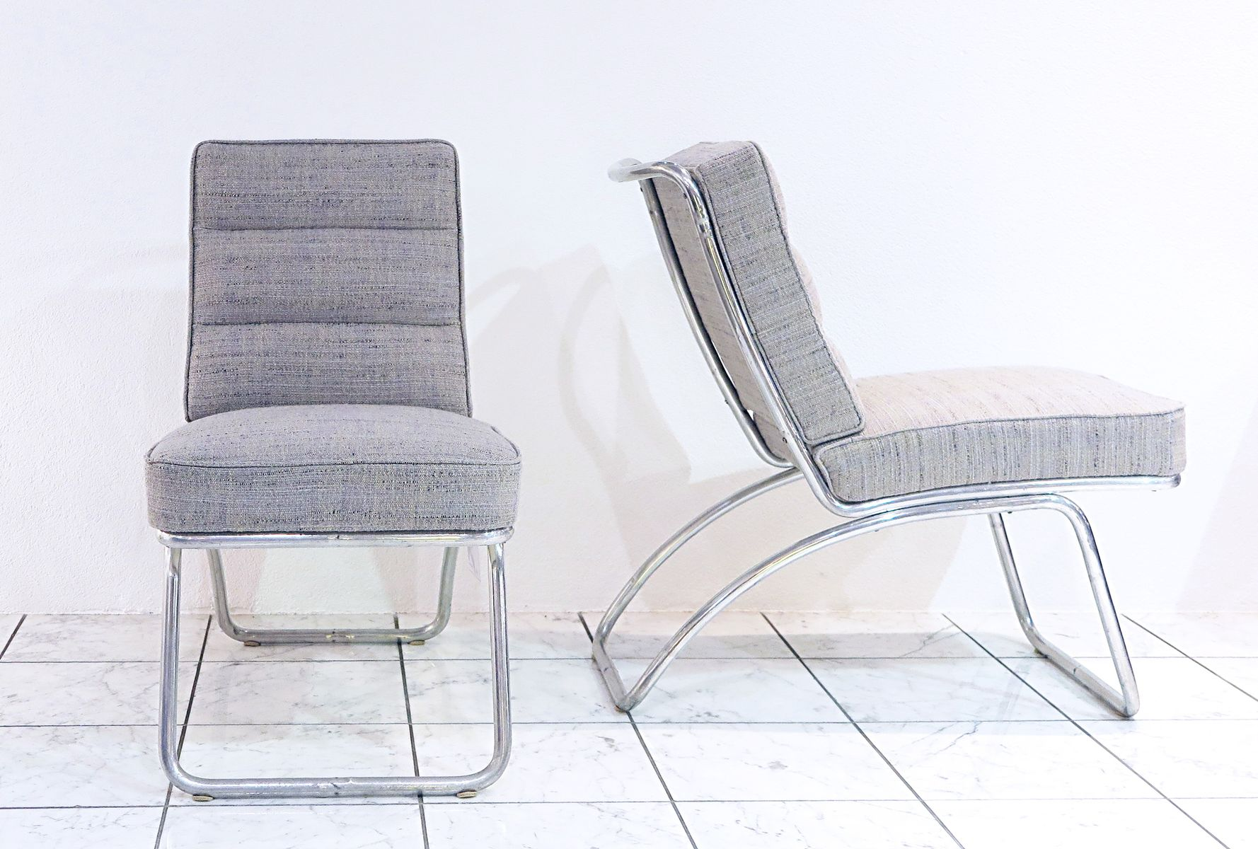 Schweizer Vintage Stühle von Louis Auguste Amiguet, 1930er, 2er Set