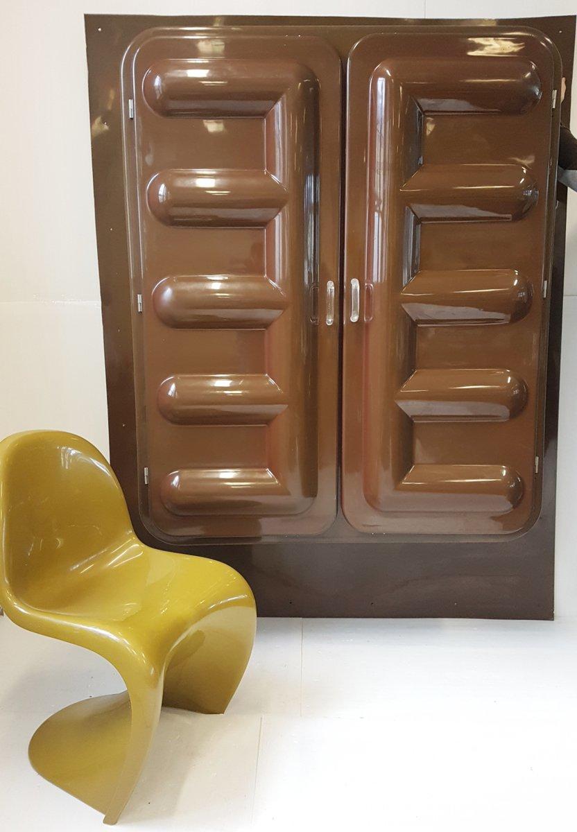 Grand meuble space age moul en plastique marron de somop 1970s en vente sur pamono - Meuble en plastique ...