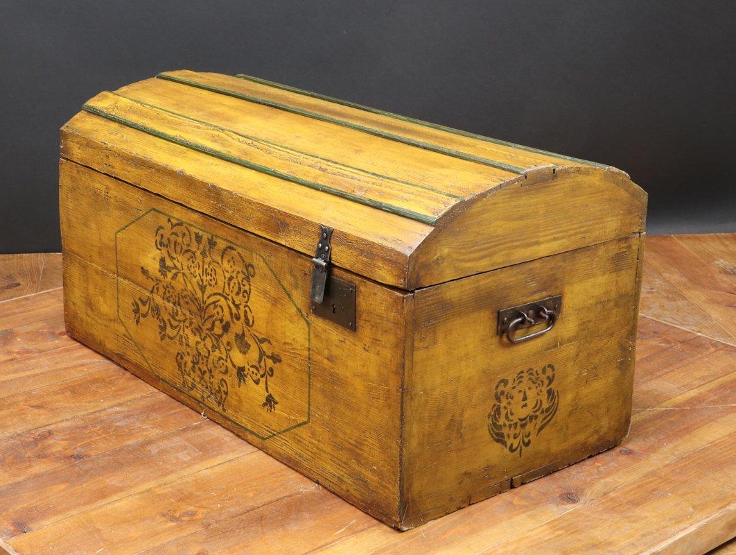 Truhe Aus Holz : antike dekorative truhe aus holz bei pamono kaufen ~ Watch28wear.com Haus und Dekorationen