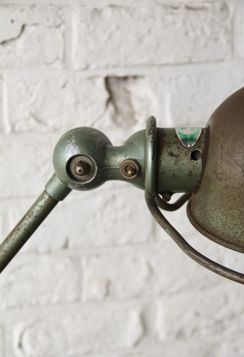 2-Arm Green Lamp by Jean- Louis Domecq for Jieldé, 1950s for sale at ...