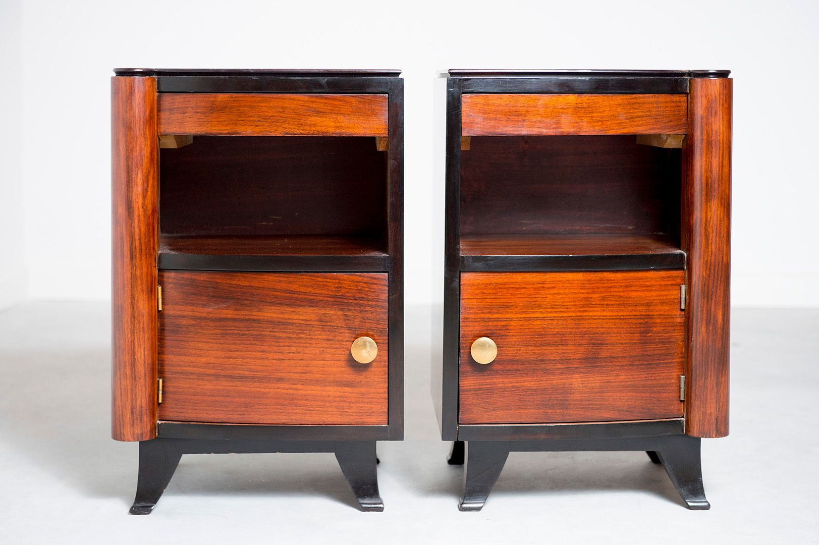 Art Deco French Nightstands 1920s Set Of 2