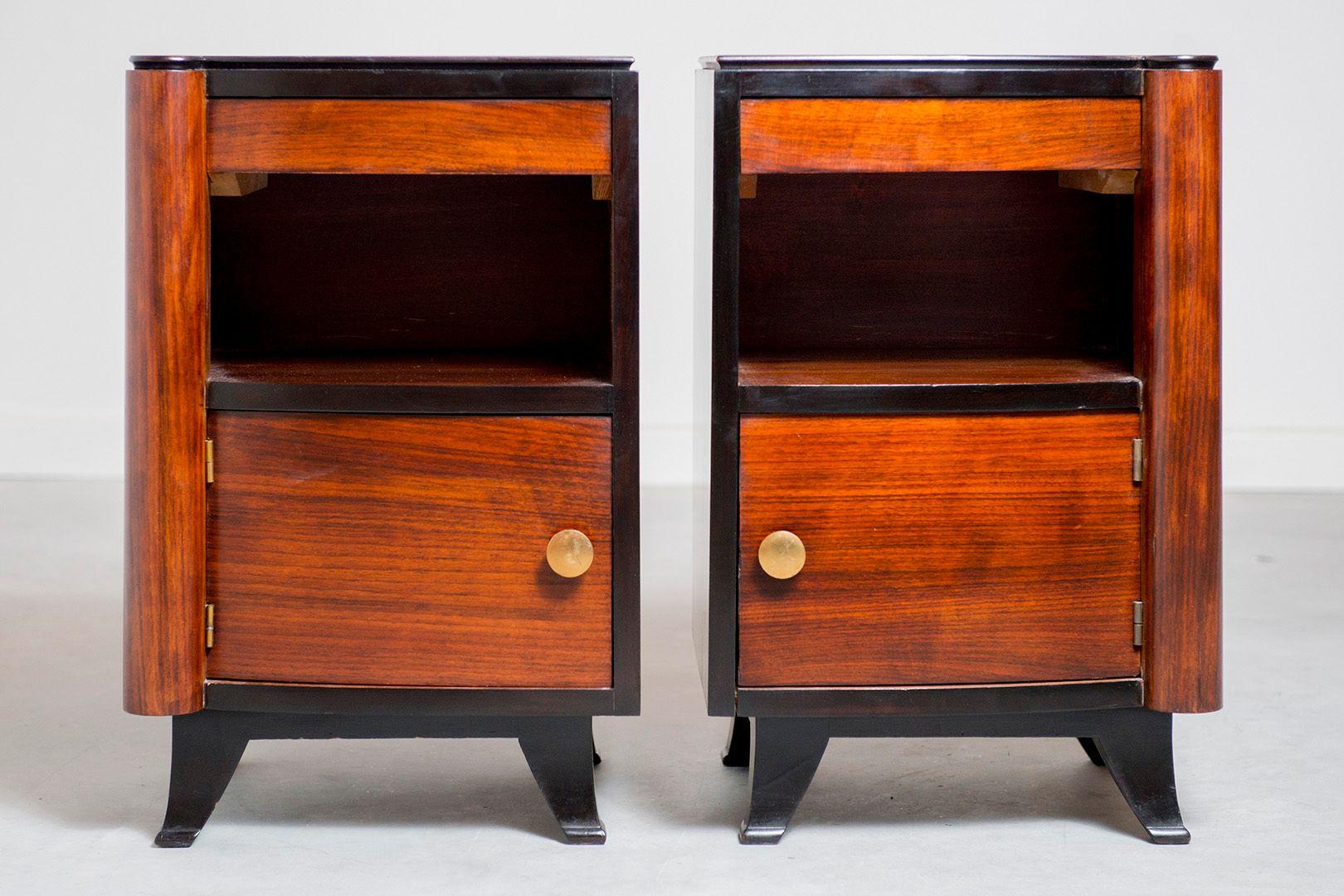 tables de chevet art deco 1920s set de 2 en vente sur pamono. Black Bedroom Furniture Sets. Home Design Ideas
