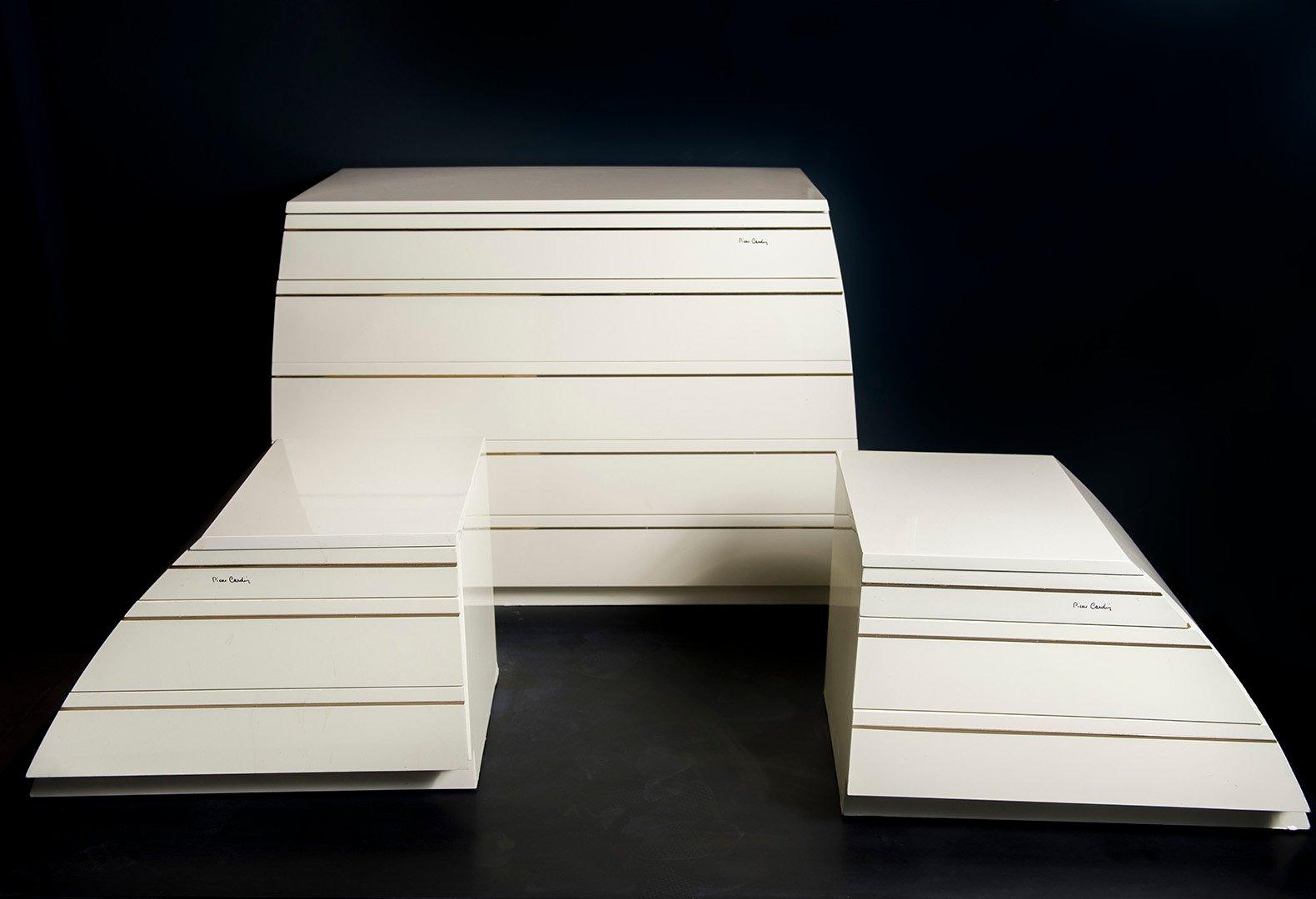 Kommode & 2 Nachttische von Pierre Cardin, 1970er