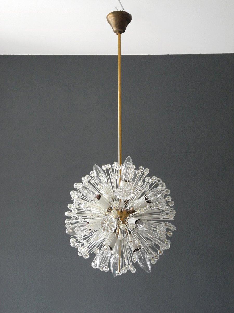 Mid-Century Modern Messing Kugel Deckenlampe vo...