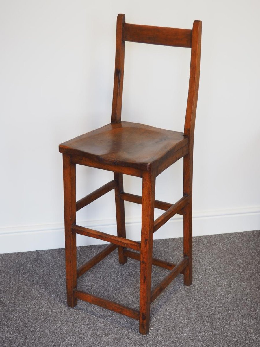 Bon 19th Century High Chair In Mahogany