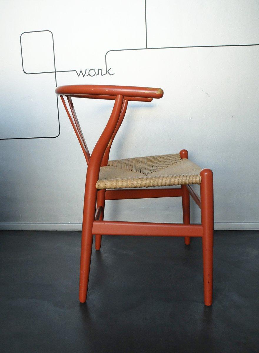 vintage ch24 wishbone chair by hans j wegner for carl hansen s n for sale at pamono. Black Bedroom Furniture Sets. Home Design Ideas