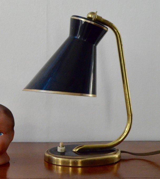 Französische Diabolo Schreitischlampe, 1950er