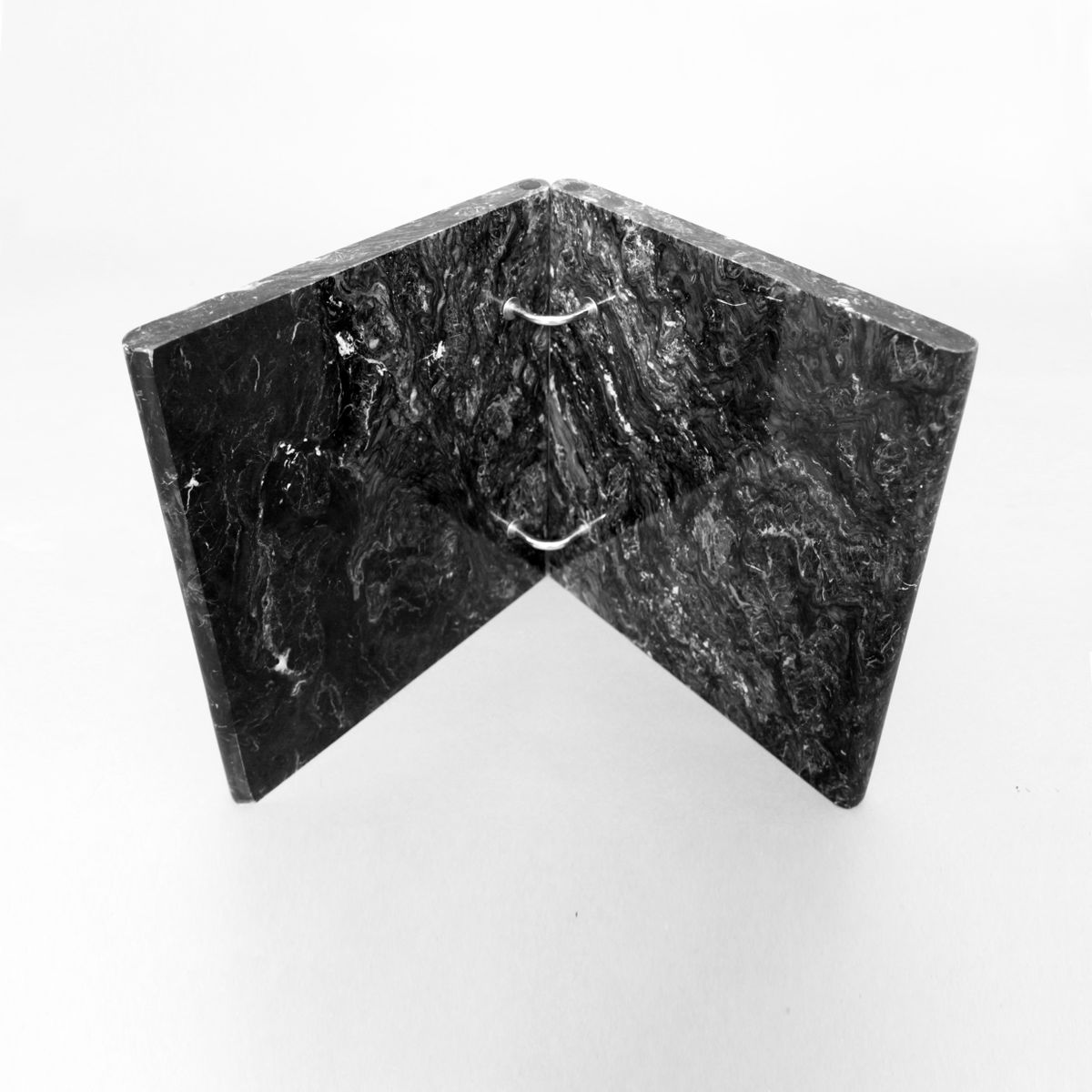 Marble Coffee Table Hk: Small Black Carrara Marble & Glass Coffee Table, 1980s For