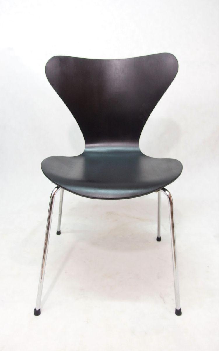 chaise s rie 7 par arne jacobsen pour fritz hansen 1976 en vente sur pamono. Black Bedroom Furniture Sets. Home Design Ideas