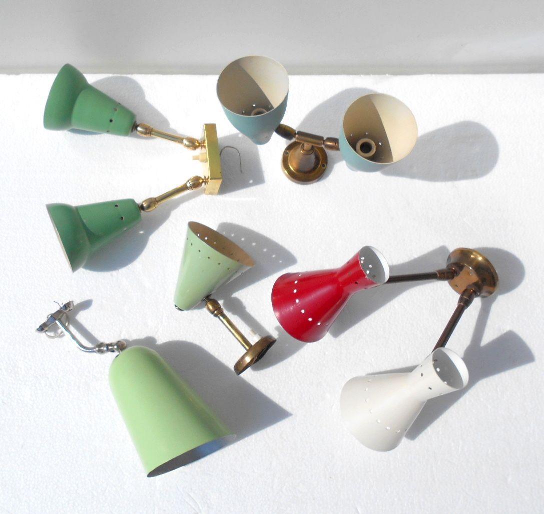 Wandlampen von Arredoluce & Stilnovo, 1950er, 5er Set