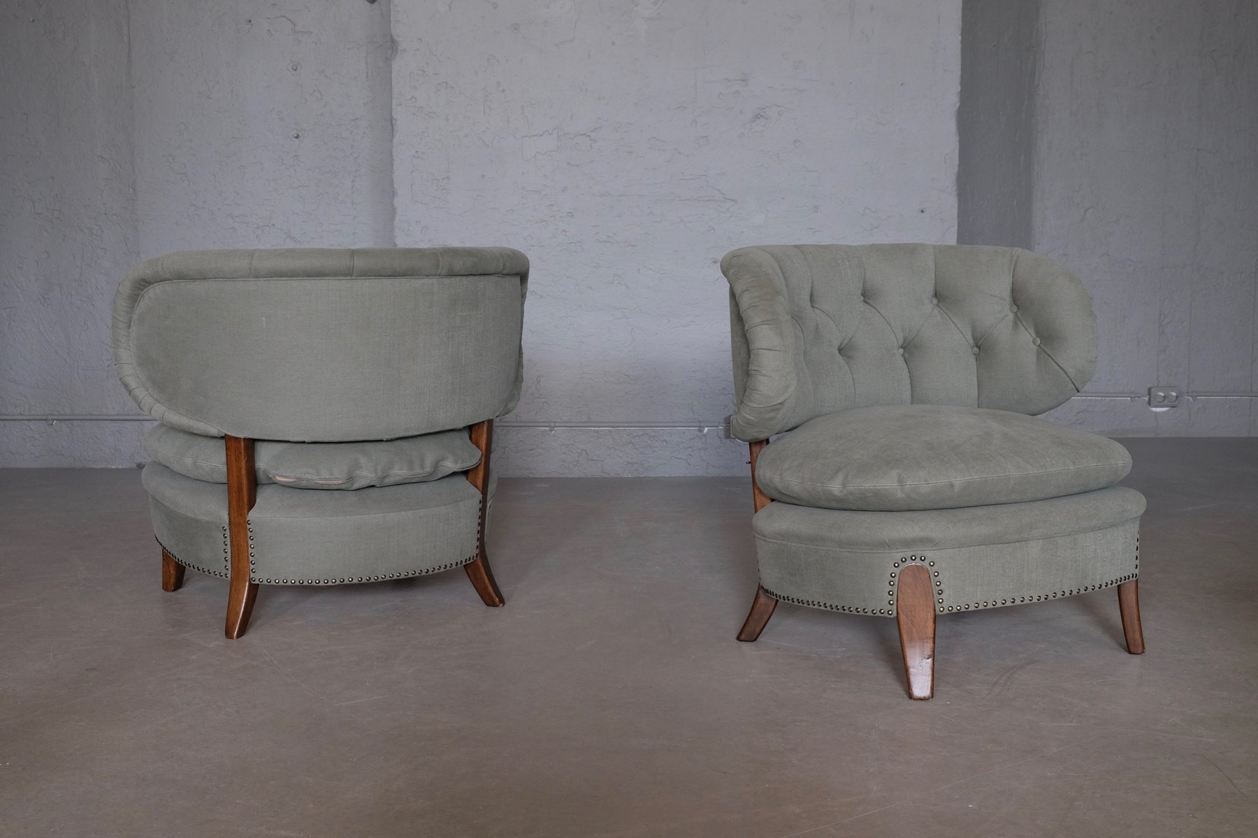 vintage sessel von otto schulz f r boet 1940er 2er set bei pamono kaufen. Black Bedroom Furniture Sets. Home Design Ideas