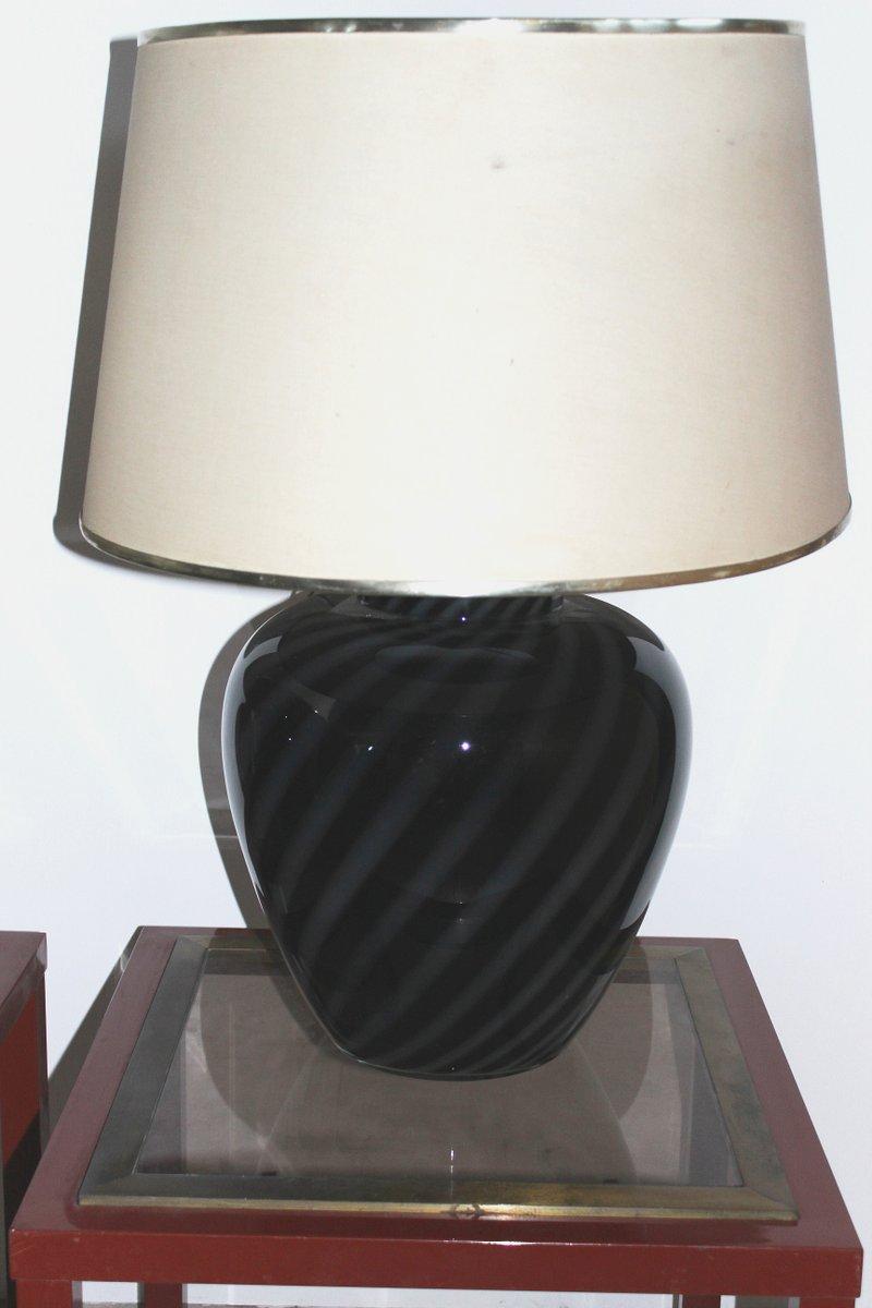 Vintage Murano Glas Tischlampen von Paolo Venini, 2er Set
