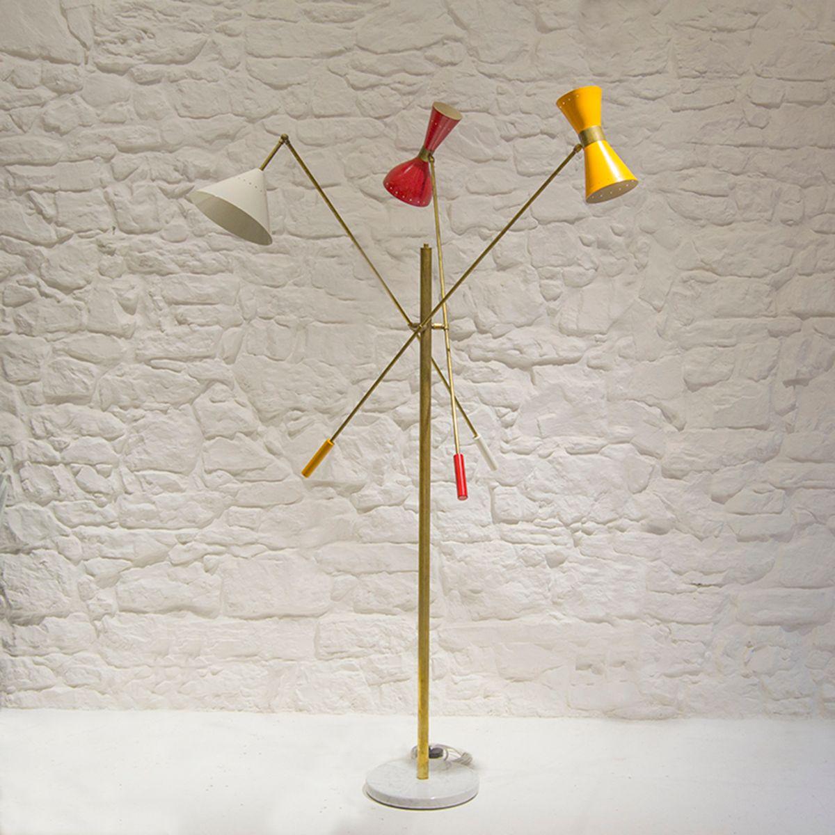 Triennale Stehlampe, 1960er